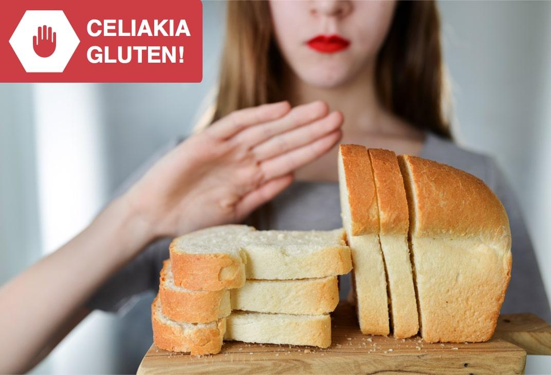 Celiakia, gluten