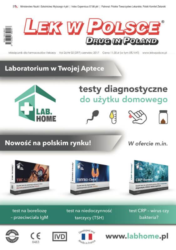 testy diagnostyczne LabHome na okładce lek w Polsce