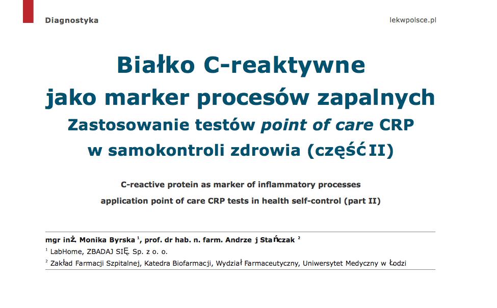 Białko C-reaktywne_Lek w Polsce