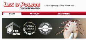 Labhome w magazynie LEK W POLSCE - borelioza