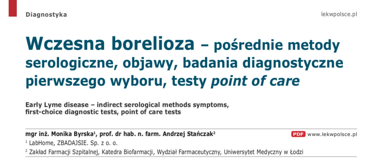 Wczesna borelioza - objawy, badania diagnostyczne LEK W POLSCE